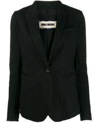 Uma Wang シングルジャケット Black