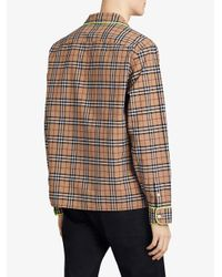 Burberry - Brown Checked Shirt for Men - Lyst