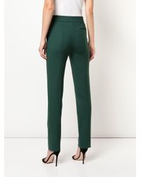 Pantaloni sartoriali skinny di Oscar de la Renta in Green
