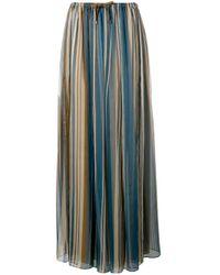 Brunello Cucinelli プリーツスカート Blue