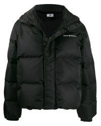 メンズ Daily Paper ロゴ パデッドジャケット Black