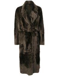 DROMe Brown Oversized Fur Coat