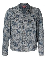 Veste imprimée en denim Supreme pour homme en coloris Blue