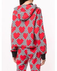 Love Moschino ハートプリント パーカー Red