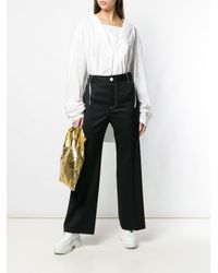 Top oversize di MM6 by Maison Martin Margiela in White