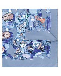Платок Concerto 2000-х Годов Pre-owned Hermès, цвет: Blue