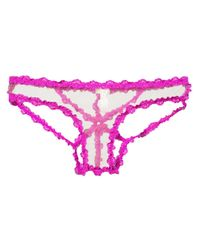 Fleur du Mal レース ショーツ Pink