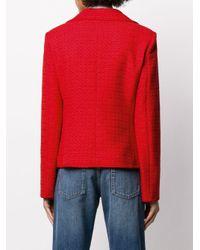 Alberta Ferretti ツイード シングルジャケット Red