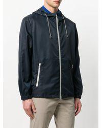 Eleventy Blue Hooded Jacket for men