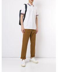 メンズ Kent & Curwen コントラストトリム ポロシャツ White