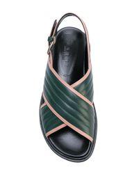 Marni - Green Fussbett Sandals - Lyst
