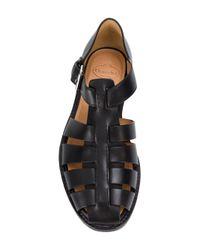 Church's - Black Fisherman Sandals for Men - Lyst