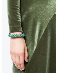 Aurelie Bidermann - Gray Woven Cuff Bracelet - Lyst