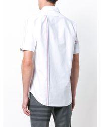 メンズ Thom Browne Rwbストライプ オックスフォードシャツ White
