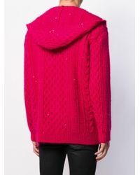 Кардиган Фактурной Вязки С Капюшоном Saint Laurent для него, цвет: Multicolor