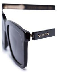 メンズ Gucci スクエアフレーム サングラス Multicolor