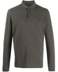 メンズ BOSS ロゴ ポロシャツ Gray