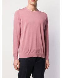 Jersey clásico Drumohr de hombre de color Pink