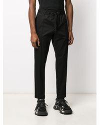 メンズ Dolce & Gabbana ドローストリング クロップドパンツ Black