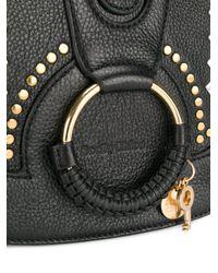 See By Chloé Black Studded Hana Shoulder Bag