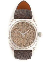 Christian Koban Brown 'dom' Diamond Watch