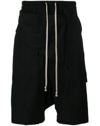 Rick Owens Drkshdw - Black Drop-crotch Shorts for Men - Lyst