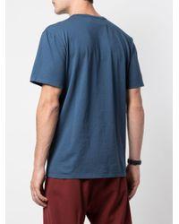 メンズ Maison Kitsuné フォックスパッチ Tシャツ Blue