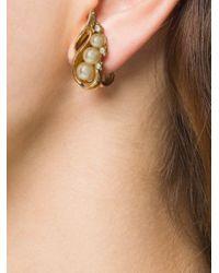 Boucles d'oreilles Trifari Susan Caplan en coloris Multicolor