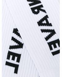 メンズ Unravel Project ロゴ 靴下 White