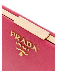 Prada Pink Light Frame Shoulder Bag