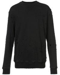 Amiri Shotgun Crew Neck Sweater in het Black voor heren