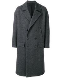 Neil Barrett - Gray Double Breasted Coat for Men - Lyst