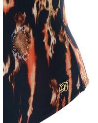 Brigitte Bardot - Blue Open Back Printed Swimsuit - Lyst