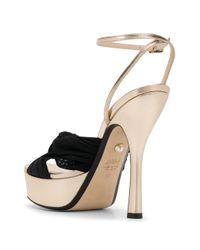 ALEVI Metallic Eleon Knot-detail Platform Sandals