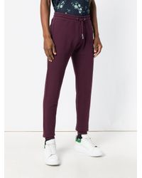 KENZO - Purple Drawstring Track Trousers for Men - Lyst