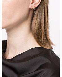 Natasha Schweitzer Metallic Heart Earrings