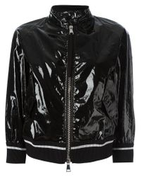 Moncler - Black Funnel Neck Bomber Jacket - Lyst