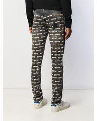 Philipp Plein Jeans mit Flammen in Gray für Herren