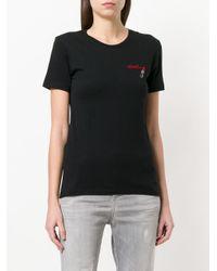 DIESEL - Black Lipstick-print T-shirt - Lyst