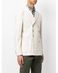 The Gigi White Straight Fitted Jacket for men