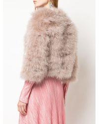 Jocelyn クロップド エコファージャケット Pink