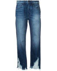 Jeans con orlo consumato di 3x1 in Blue