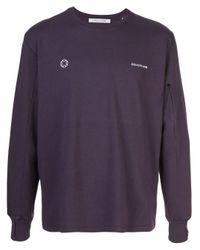 メンズ 1017 ALYX 9SM ロゴ ロングtシャツ Purple