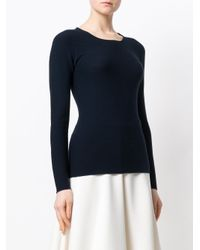 Giorgio Armani Blue Round Neck Sweater