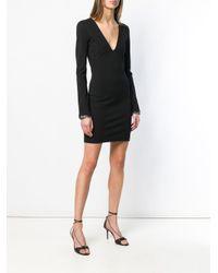 Vestido corto con escote pronunciado DSquared² de color Black