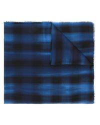 Écharpe à carreaux Lanvin pour homme en coloris Blue