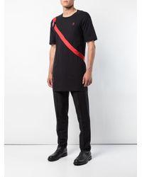 メンズ Boris Bidjan Saberi 11 ロングライン Tシャツ Black