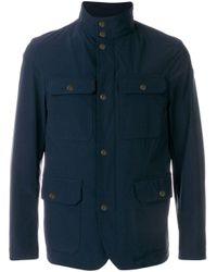Куртка С Карманами Moncler для него, цвет: Blue