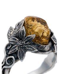 Lyly Erlandsson 'Aria Leaf' Ring in Metallic für Herren