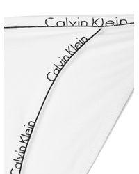 CALVIN KLEIN 205W39NYC White Logo Hem Briefs